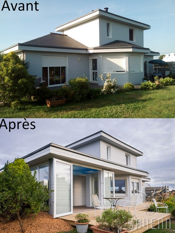 extension bois maison bretagne
