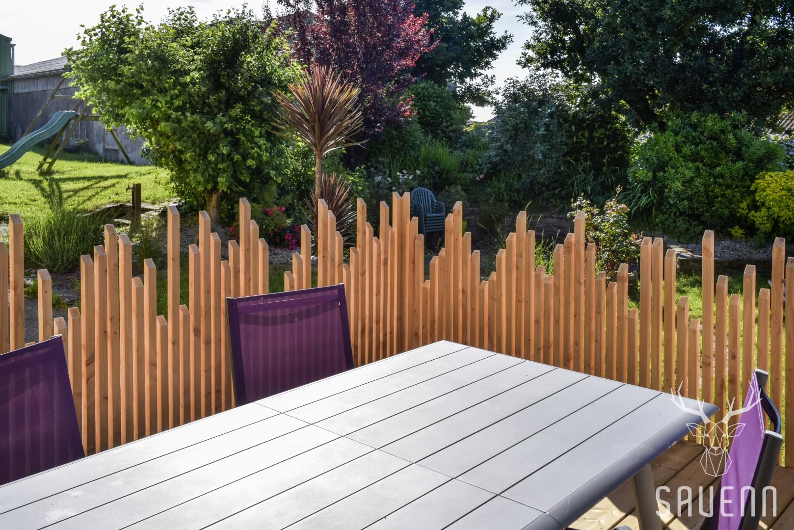 brise vue en bois terrasse